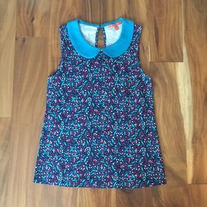 Modcloth floral print sleeveless shirt - size XS